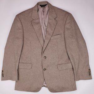 Jos A Bank Cashmere Sport Coat 42S Beige 2 Button